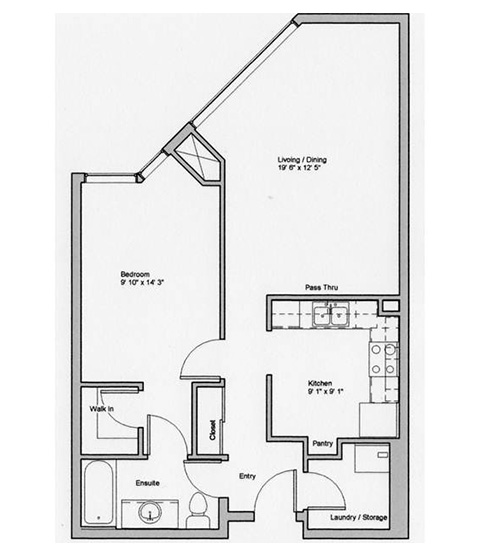 Image of Briar suite floor plan only