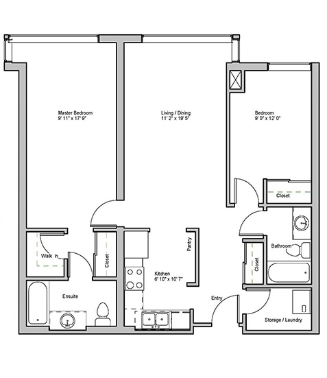 Image of Brookdale suite floor plan only