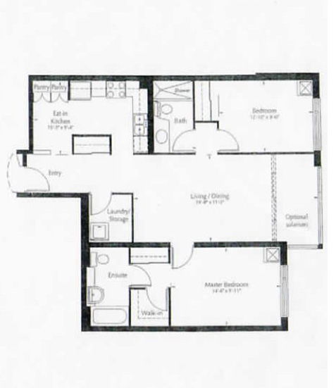 Image of Chaplin suite floor plan only