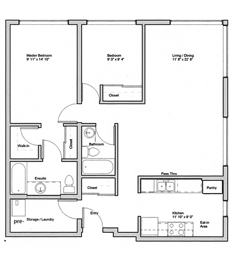 Image of Cipin suite floor plan only