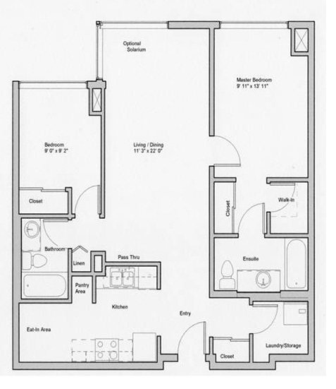 Image of deloraine suite floor plan only 2