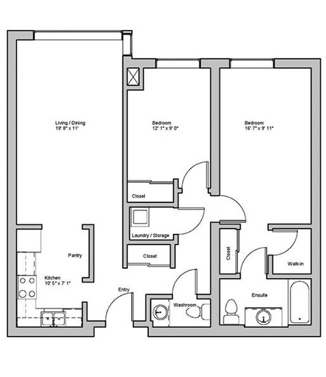 Image of haddington suite floor plan only