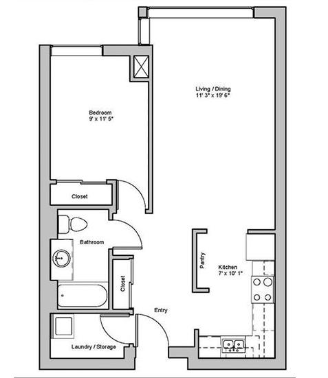 Image of dewbourne suite floor plan only
