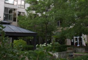 front garden of main building