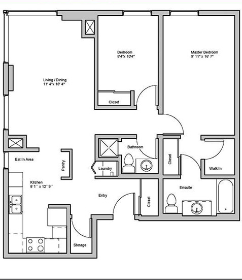 Image of melrose suite floor plan only