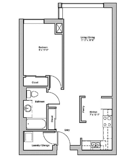 Image of silverton suite floor plan only