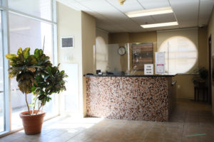 image of welcome desk