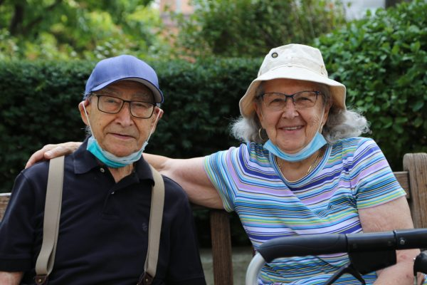 image 13 from hat parade - elderly couple smiling into camera in hats