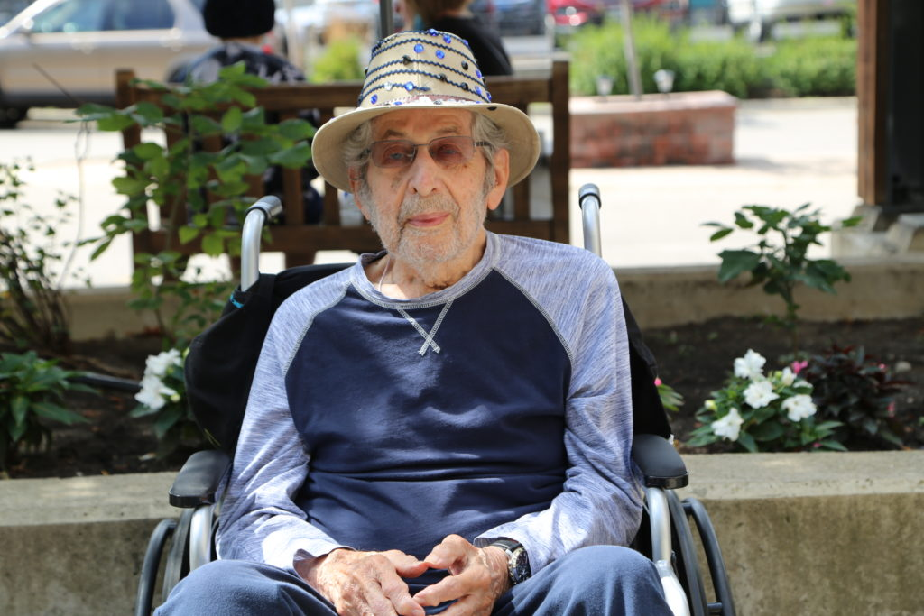 image 14 from hat parade - gentleman in wheelchair and hat