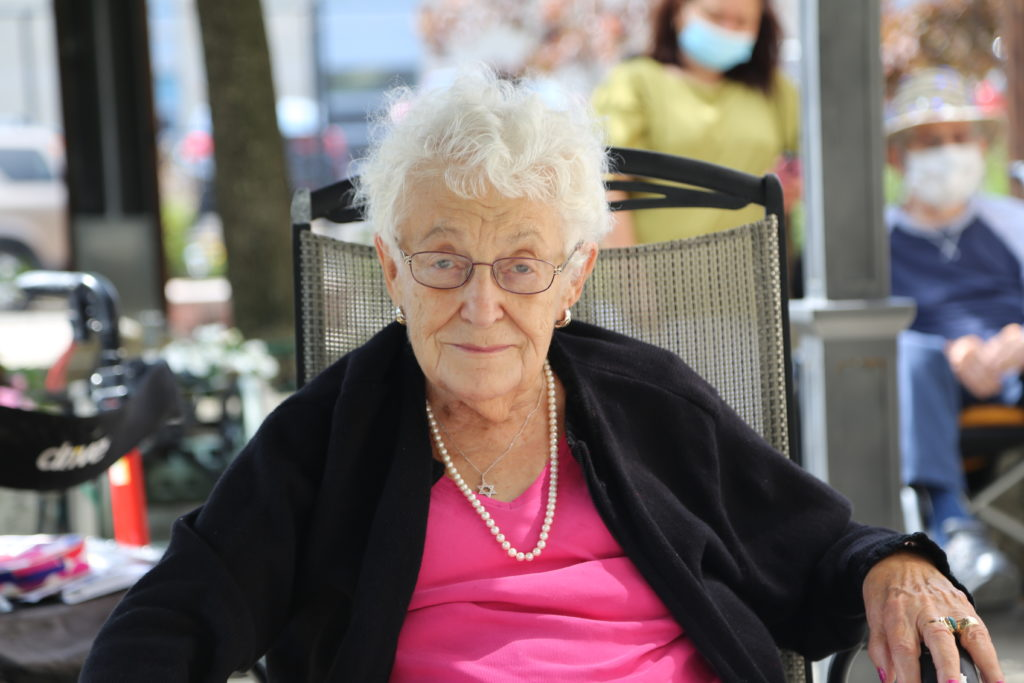 image 19 from hat parade - elderly lady smiling into camera