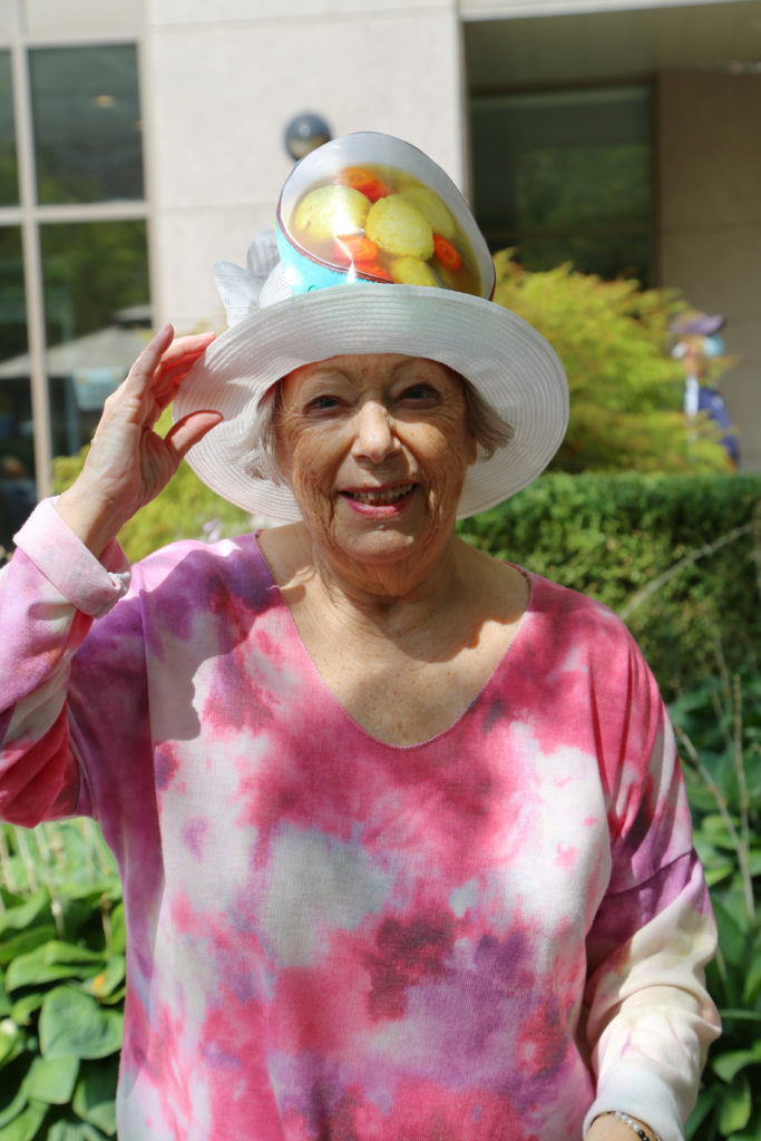 image 20 from hat parade - lady in colourful hat