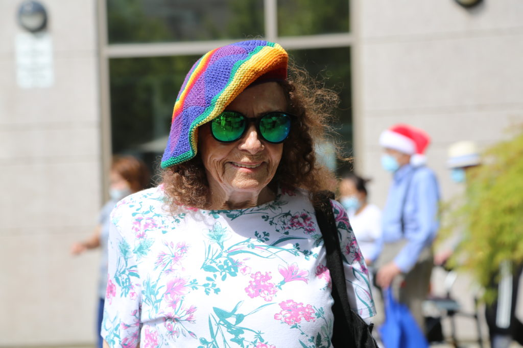 image 26 from hat parade - lady walking outside